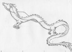 Haku from spirited away, would love to get this on my leg. beautiful dragon