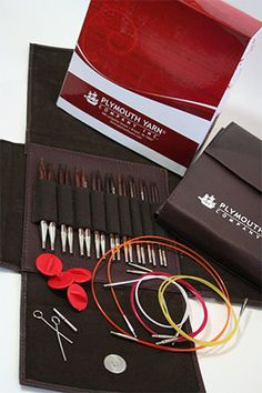 Rosewood Interchangeable Needle set by Plymouth Wooden Knitting Needles, Knitting Needle Sets, Interchangeable Knitting Needles, Plymouth, Products, Gadget