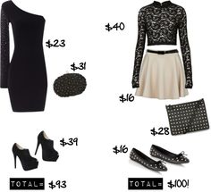 """""""NYE Outfits for $100 and Less!"""" by shoes-sushi-and-sparechange on Polyvore"""