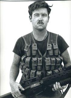 Unidentified GI, Fire Base Charlie, Vietnam, 1971