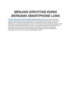 Menjadi gravitasi dunia bersama smartphone luna  Menjadi Gravitasi Dunia Bersama Smartphone Luna #begravity #smartphoneluna #lunaindonesia #rentalmobilpontianak #rentalmobilkuburaya #carrentalagencyofpontianak