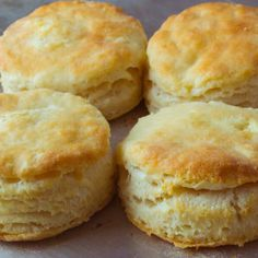 Grandma's Flaky Buttermilk Biscuits -- These buttermilk biscuits are flaky on the outside and light and fluffy on the inside- which equals perfection in my book. My grandma's flaky buttermilk biscuits makes the perfect side to any meal. Best Buttermilk Biscuits, Flaky Biscuits, Recipes With Buttermilk, Eggless Biscuits, Best Homemade Biscuits, Tea Biscuits, Homemade Breads, Bread Recipes, Cake Recipes