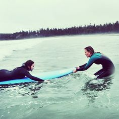Trust us, you got this. Our 5 day all-inclusive June surf camp was sold out! Check out our website to register for the next one, July 20-26. // #surfcamps #yourtofino #surfing #surflessons #britishcolumbia #surflife #familyfun @tofinotravel