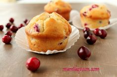 Manila Spoon cranberry banana muffins