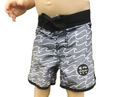 Boy's 4-Way Stretch Retro Surf Trunks