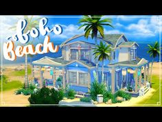 BOHO BEACH HOUSE - w/Reaver (50/50 Challenge) Sims 4 | House Build