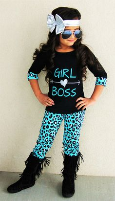 """Girl Boss"" Mint Leopard Pant Set"
