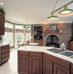 Cozy Kitchen with brick in Plan 038D-0062 | House Plans and More