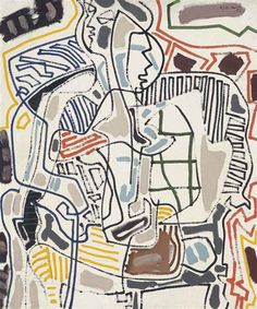 Patrick Heron - Playing Card Girl, 1952, oil on canvas