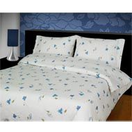 Image of Flannelette Duvet Cover Lilly Blue Flannelette Sheets, Bed Curtains, Duvet Cover Sets, Pillow Cases, Household, Textiles, Warm, Pillows, Blue