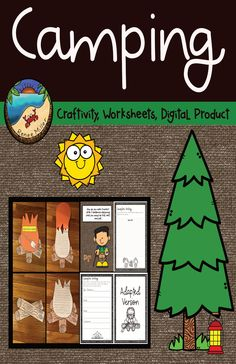 Camping Themed Activities:Craftivity, Worksheets, and Digital Product to use with Google Slides and Google Classroom.  Great for summer school or a camping unit.  Designed for first grade students.#campingthemedactivities Summer School Activities, First Grade Activities, Camping Activities, Writing Activities, Classroom Activities, Classroom Decor, First Grade Projects, Lined Writing Paper, Primitive Christmas