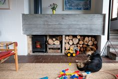 Tiles-Carpet-Fireplace-Concrete-Chair