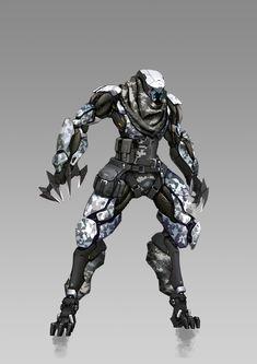 Alien Concept Art, Weapon Concept Art, Armor Concept, Character Concept, Character Art, Mecha Suit, Combat Armor, Arte Robot, Futuristic Armour