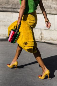Street style at Fashion Week Spring-Summer 2018 in Paris Photo by Sandra Semburg