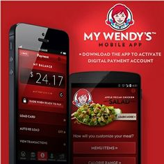 Wendy's mobile app now let's you pay for a meal
