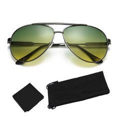 P.B. High Quality Green Lens Night Driving Sunglasses
