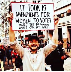 The second Amendment wasn't written by the hand of god. We're human. March For Our Lives, Protest Signs, Protest Posters, Power To The People, Intersectional Feminism, Thats The Way, Equal Rights, Patriarchy, Faith In Humanity