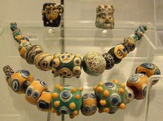 Phoenician glass beads by Kotomicreations,