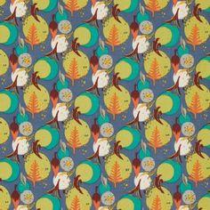 Felicity Miller Charleston Farmhouse Fabric - Bloomsbury - Aquamarine