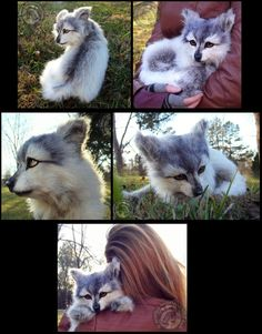 eBay HAND MADE LIFE SIZED Poseable Wolf Pup! by Wood-Splitter-Lee on deviantART