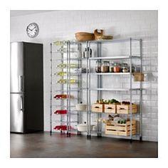IKEA - OMAR, 3 secções de prateleira, Fácil de montar. Não são precisas ferramentas.As prateleiras reguláveis tornam mais simples adaptar o espaço às suas necessidades.Pés reguláveis; mantém-se estável em pavimentos irregulares.