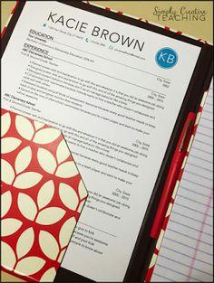 Simply Creative Teaching: Teacher Resume Tips & Tricks