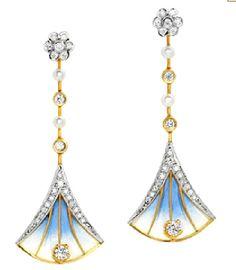 Nile, 18kt yellow gold, brilliant cut diamonds and fired enamel, Masriera, 2012