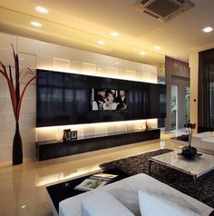 Home theater branco e preto