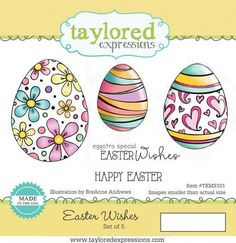 Easter Wishes...red rubber cling stamp