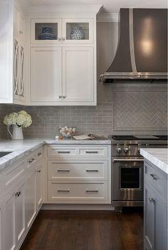 Ceramic Grey Backsplash Tile #GreyBacksplashTile #kitchenremodeling