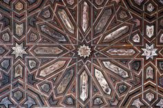 ceiling alhambra Photograph of the ceiling inside of the Alhambra obtained from the Casselman Archive of Islamic and Mudejar Architecture in Spain