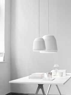 Mingus White designed by Cecilie Manz http://www.lightyears.dk/lamps/pendants/mingus-white.aspx