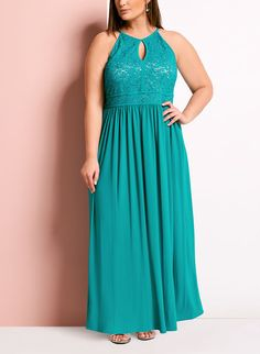 Glitter Lace Keyhole Dress