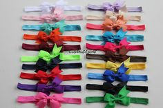 5 baby headband - 2 dollar each - hair bands - headband for newborn - baby bow headband. You caan choose colors on Etsy, $10.00