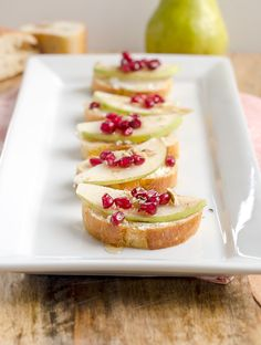 pear and goat cheese crostini pear pomegranate and goat cheese ...