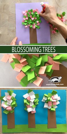 BLOSSOMING TREE The Effective Pictures We Offer You About Spring Crafts For Kids rainbow A quality picture can tell you many things. Spring Activities, Kindergarten Activities, Activities For Kids, Preschool, Spring Crafts For Kids, Art For Kids, Sheep Crafts, Paper Crafts, Diy Crafts