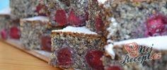 Recept Hrnkový makový koláč s třešněmi Food, Oatmeal, Essen, Meals, Yemek, Eten