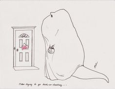 T-Rex trying to go trick-or-treating. T-Rex and other dinosaur jokes and cartoon comics Bc Comics, T Rex Arms, T Rex Humor, A Cold Wall, Dinosaur Funny, Welcome To The Jungle, Feeling Down, Funny Cartoons, Funny Images