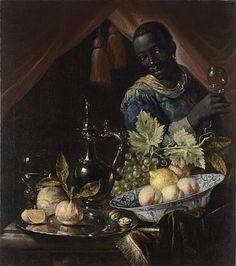 Still life with peaches and a lemon in a wan-li bowl, Juriaen van Streeck