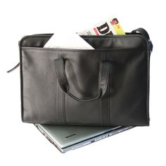 Royce Leather 'Wellesley' Soft Sided Laptop Briefcase Top Grain Nappa Leather 691-BLACK-5