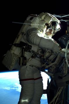 AstroButch in the vacuum of space #spacewalk