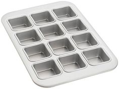 Aluminum Muffin Pan with 12 Square Cups *** Click image for more details. (This is an affiliate link) #MuffinandCupcakePans