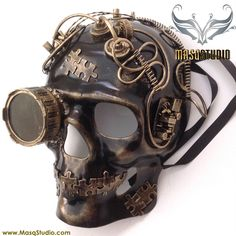 Skeleton Mask with goggle for Burning man festival this year!! to complete my Coolest costume ever!