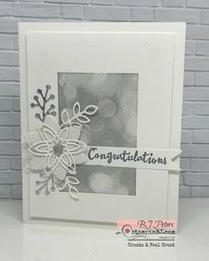 Wedding Card Ideas Hand Made Stampin Up 29 Trendy Ideas Wedding Anniversary Cards, Wedding Cards, Happy Anniversary, Wedding Invitations Diy Handmade, Snowflake Cards, Snowflakes, Birthday Cards, Birthday Images, Birthday Quotes