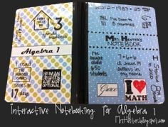 Interactive Notebooking for Algebra 1
