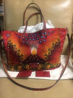 New Valentino Medium Multicolored Enchanted Wonderland Reversible Red Tote Bag  | eBay