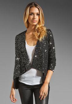 BB DAKOTA Remi Sequin Wool Jacket in Black/Silver at Revolve Clothing - Free Shipping!