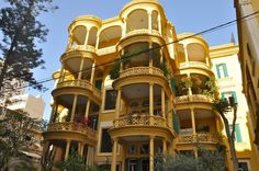 a gorgeous sample of Lebanese architecture.. This apartment building is in the Qantari district of Beirut