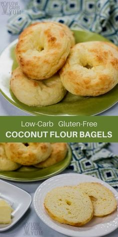 A recipe for low car A recipe for low carb bagels using a coconut flour Fat Head dough. It's sure to become a regular breakfast item for those on a Atkins or keto diet. | LowCarbYum.com via Low Carb Yum | Gluten Free & Low Carb Recipes