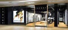 Trendy by Vision Express optician saloon by EMKWADRAT Architekci, Lodz Poland store design Visual Merchandising, Eyeglass Stores, Glasses Shop, Optical Shop, Store Windows, Design Furniture, Optician, Store Design, Poland